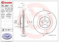 Диск тормозной передний Brembo 26300SA001