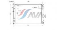Радиатор охлаждения двигателя AVA 45111XA01A