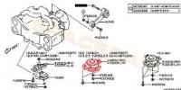 Подушка двигателя правая 41022AG111