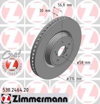 Диск тормозной передний Zimmermann 26300AG000